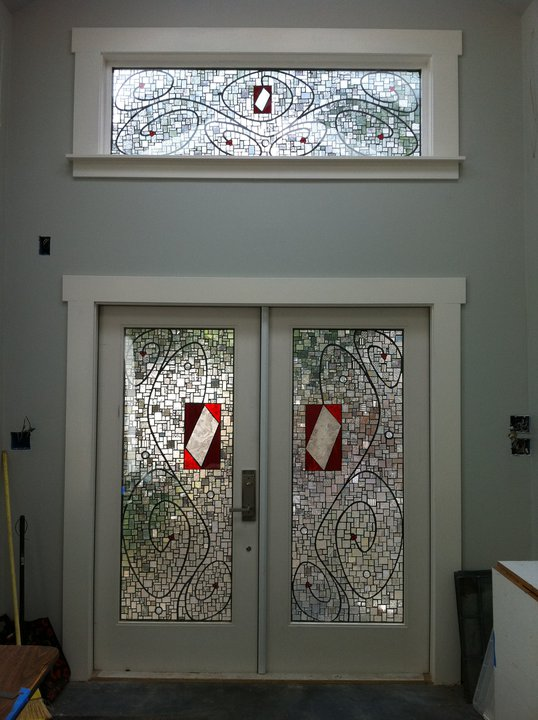 I assisted Kelley Knickerbocker on these French doors at her studio.